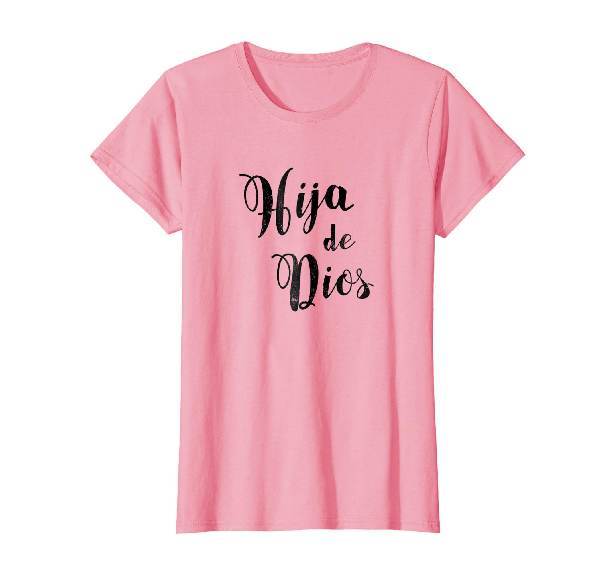 Amazon.com: Camisas Espanolas religiosas, camiseta de la hija de dios: Clothing