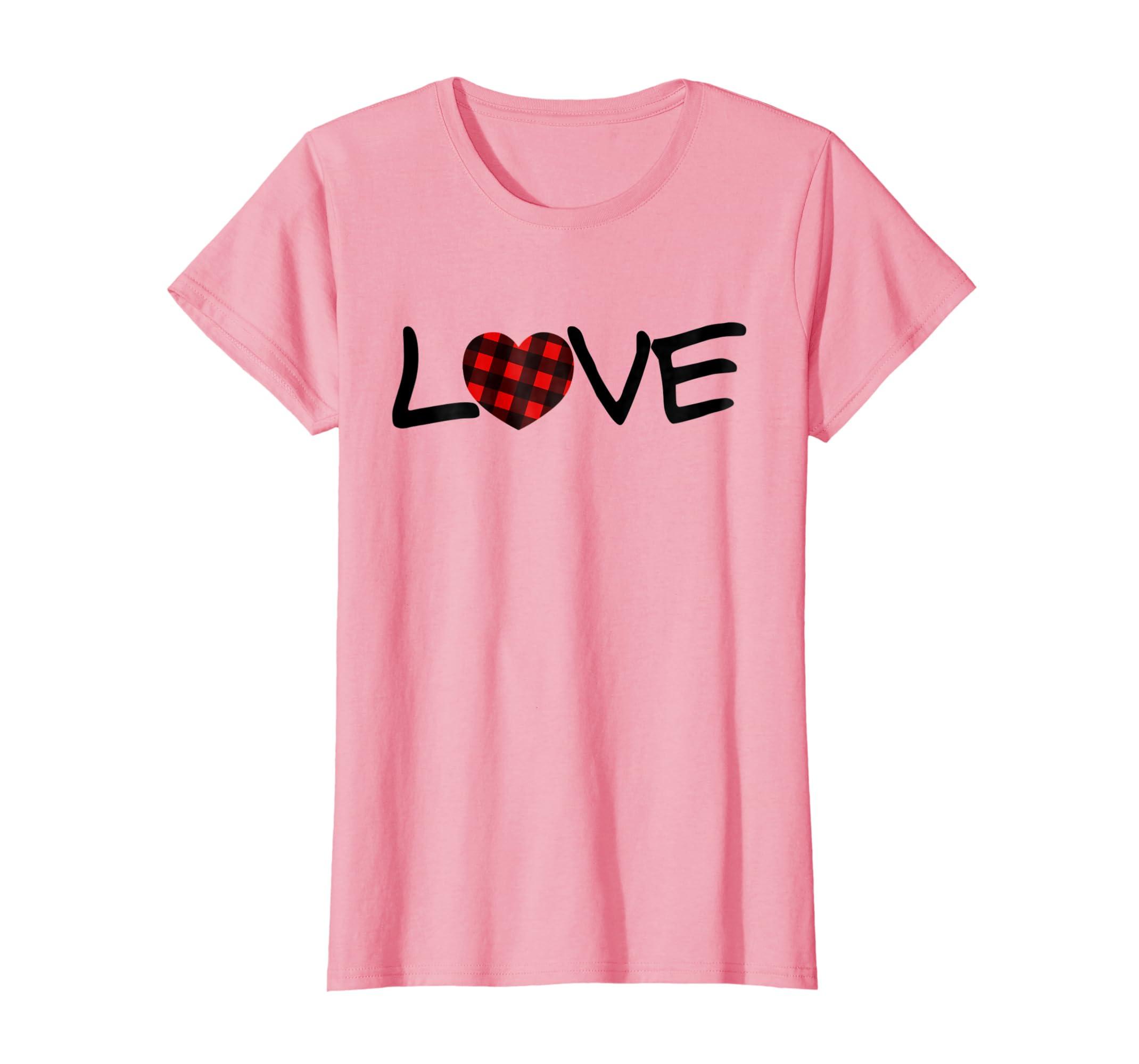 ed82daa18f1c5c Amazon.com  Buffalo Plaid Heart love valentines day lover shirt  Clothing