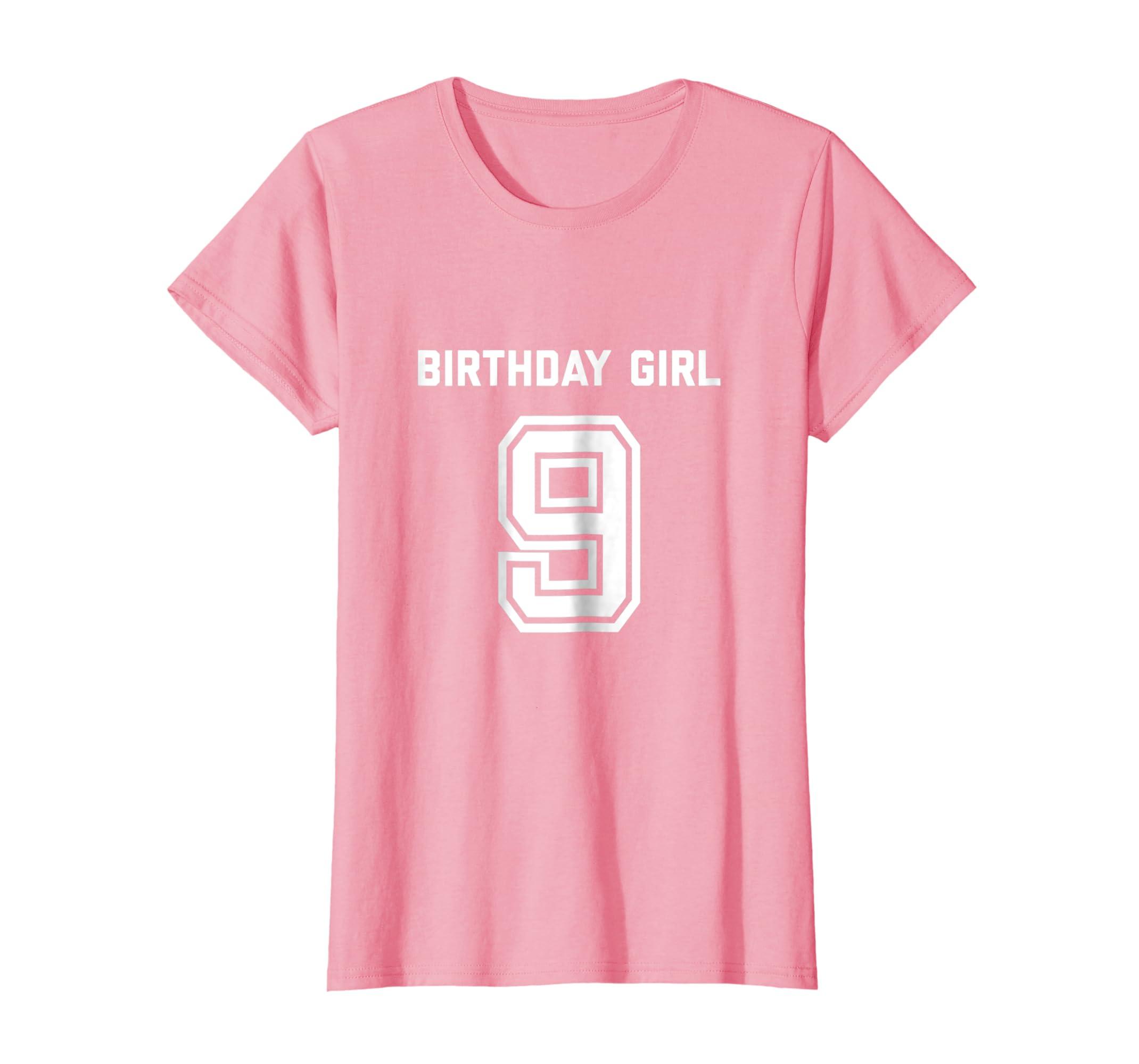Amazon 9th Birthday Shirt Gift Age 9 Year Old Girl Tshirt Girls Tee Clothing