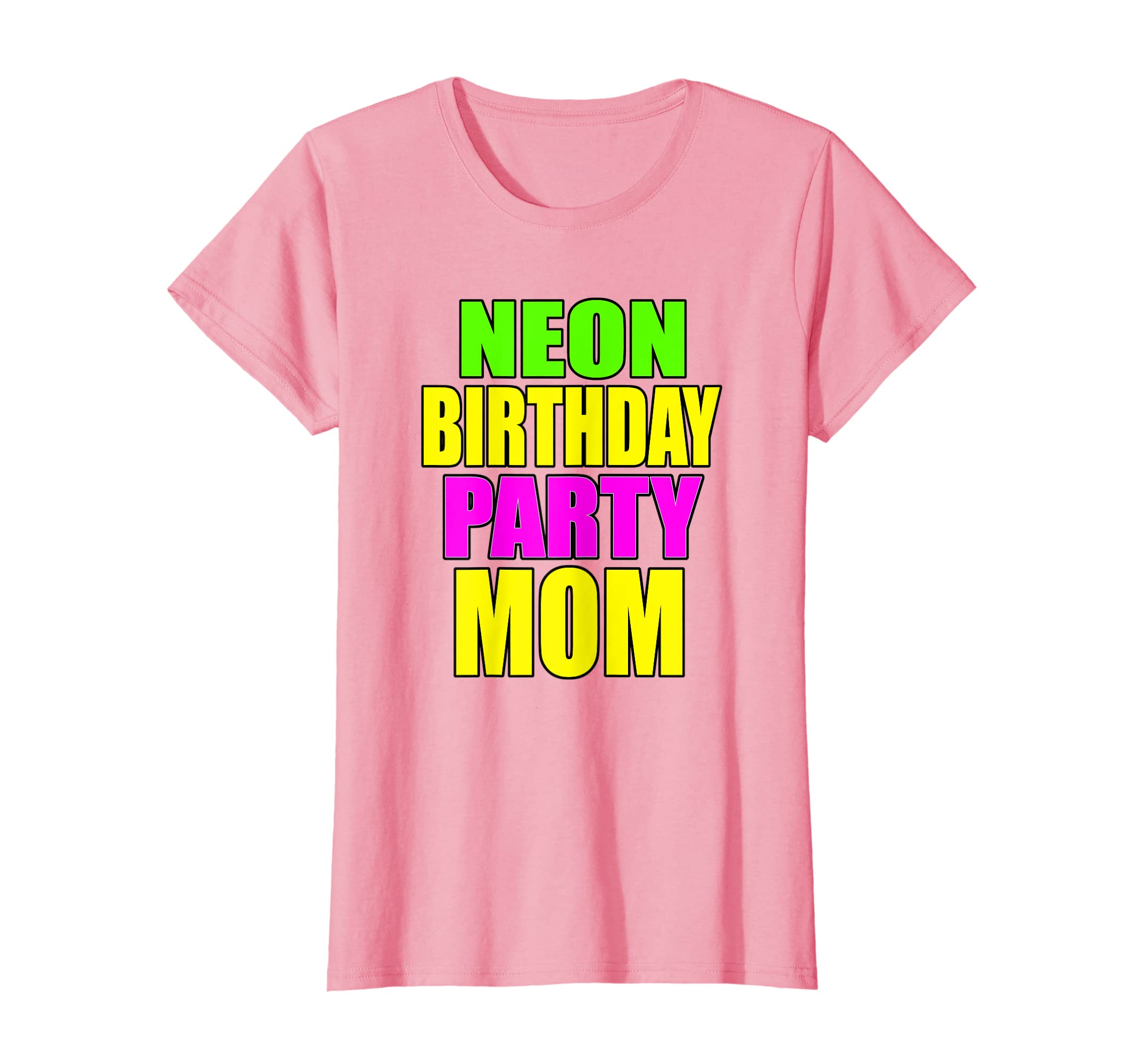 Amazon Neon Birthday Party Mom Matching Family Shirts Clothing