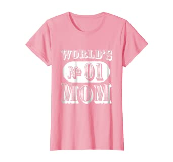 11abb678 Amazon.com: Womens World's Number 1 One Mom T-Shirt Gift for Women ...