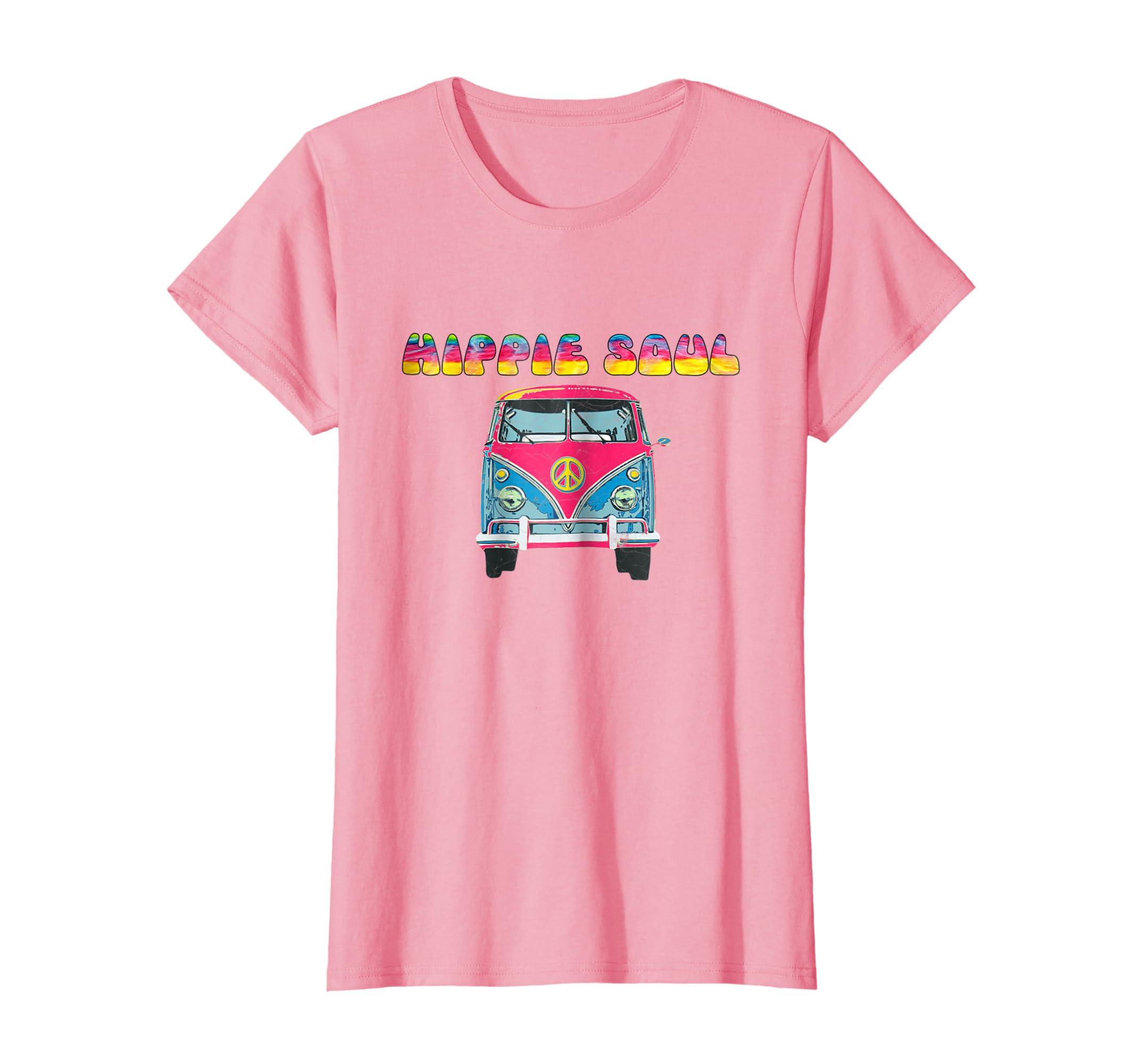 d0b439791 Amazon.com: Vintage Hippie Soul Tie Dye Van Shirt: Clothing