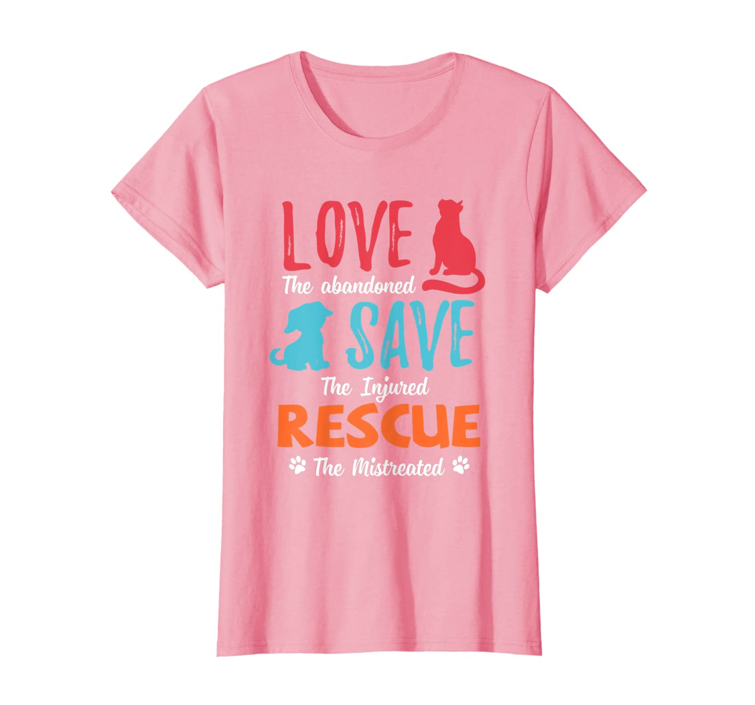 Love Save Rescue Dog Cat Animals Support T-Shirt
