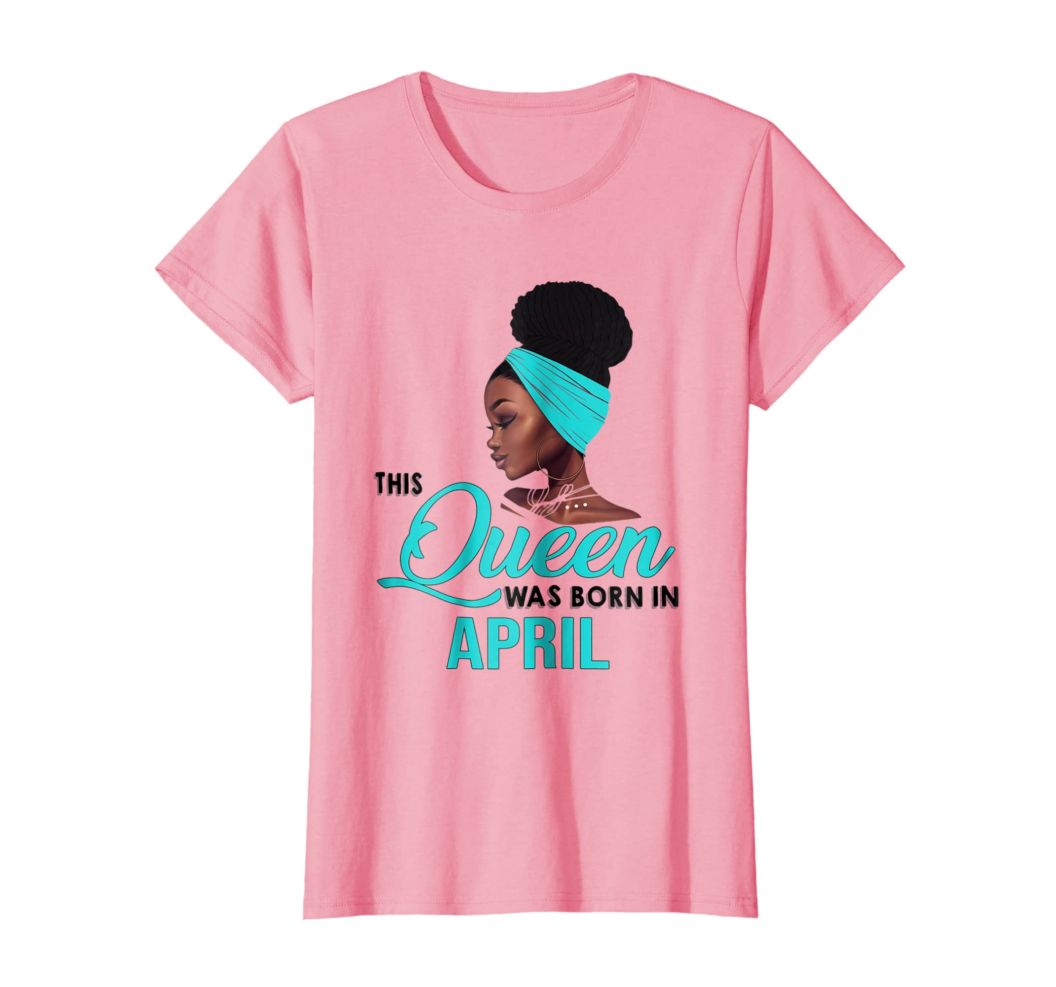 Queen Was Born In April Birthday T-Shirt for Black Women-Yolotee