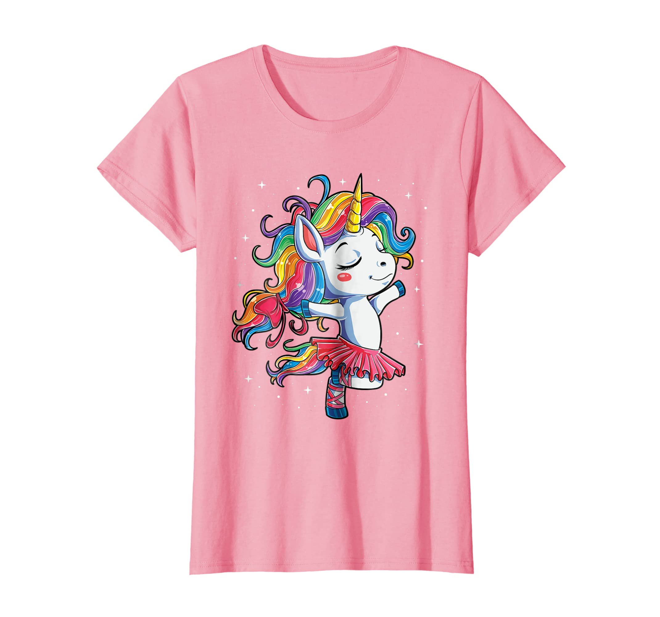 Ballet Dancer Unicorn T shirt Kids Girls Rainbow Ballerina-Teesml