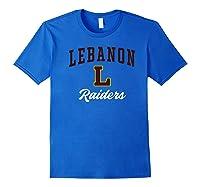 Lebanon High School Raiders Premium T-shirt Royal Blue