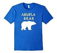 Abuela Bear Bear Gifts For Grandma Grandparents Shirts Royal Blue