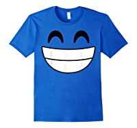 Halloween Emojis Costume Shirt Cheerful Laughing Emoticon T-shirt Royal Blue