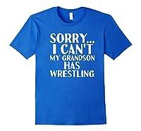 Grandpa Grandma My Grandson Has Wrestling Shirts Royal Blue
