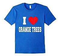 Love Orange Trees Shirts Royal Blue