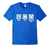 Essential Oil Gifts Shirts Royal Blue