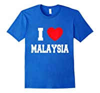 Love Malaysia Shirts Royal Blue