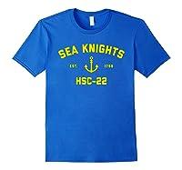 Hsc-22 Sea Knights T-shirt Royal Blue