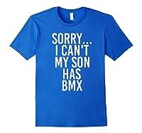Dad Mom My Son Has Bmx Shirts Royal Blue