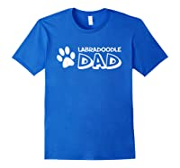 S Labradoodle Dad T-shirt For Royal Blue