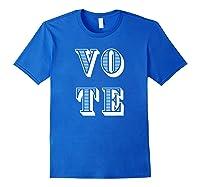 Vote (retro-style) T-shirt Royal Blue