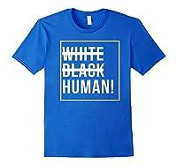 Black Human Shirts Royal Blue