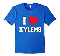 Love Xylems Shirts Royal Blue
