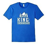 King Of Shenanigans Funny Bachelor Party Animal Drink Fun Shirts Royal Blue