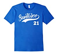 Santurce 21 Black Shirts Royal Blue