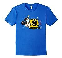 Mickey Mouse 8th Birthday Shirts Royal Blue