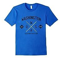 Retro Vintage Washington Shirts Royal Blue