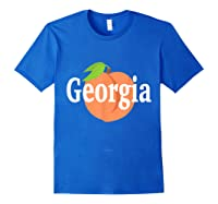 Georgia Peach State Pride Southern Roots T Shirt Royal Blue