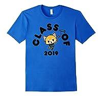 Aggretsuko Class Of 2019 Graduation Graduate T-shirt Royal Blue