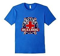 British Bulldog Flag Graphic Shirts Royal Blue