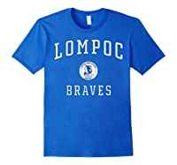Lompoc High School Braves C1 Shirts Royal Blue