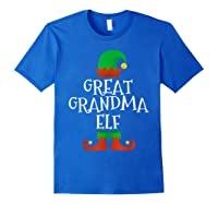 Great Grandma Elf Christmas Funny Xmas Gift Shirts Royal Blue