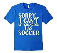 Grandpa Grandma | My Grandson Has Soccer T-shirt Royal Blue