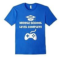 Funny Middle School Graduation Video Gamer Tshirt Royal Blue