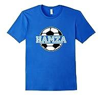 Soccer Boy Hamza Birthday Soccer Ball Name Shirts Royal Blue