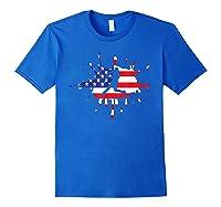 Baseball League Game Usa Flag American National Team Player Shirts Royal Blue