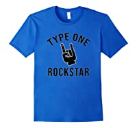 Type 1 Diabetes Diabetic Rocker Awareness Gift Shirts Royal Blue