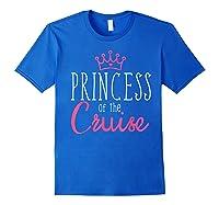 Princess Cruise Cruising Vacation Ship Girl Embark Shirts Royal Blue