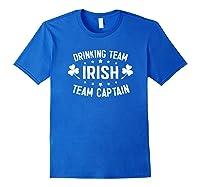 Irish Drinking Team, Team Captain T-shirt Royal Blue