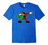 Portuguese Flag On Dabbing Soccer Ball | Portugal Football Shirts Royal Blue