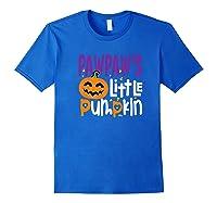 Pawpaw's Little Pumpkin Halloween Cute Pumpkin Gifts Shirts Royal Blue
