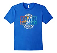 Brain Surgery Shirt Survivor Post Cancer Tumor Recovery Gift Royal Blue