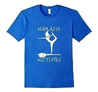 Namaste Witches Halloween Yoga T-shirt Royal Blue