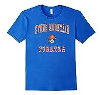 Stone Mountain High School Pirates Shirts Royal Blue