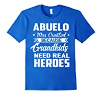365 Abuelo Funny Grandpa Grandfather Gift Shirts Royal Blue