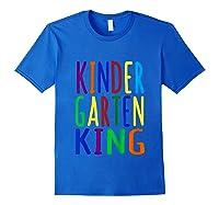 Kindergarten King Back To School Child's Shirts Royal Blue
