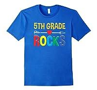5th Grade Rocks Cute Back To School Tea Gift Premium T-shirt Royal Blue