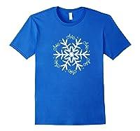 Cycling Christmas Snowflake Pattern Shirts Royal Blue