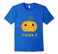Scorpio Af Zodiac Constellation T-shirt Royal Blue