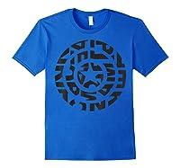 Marvel Captain America Shield Text Fill Logo T-shirt Royal Blue
