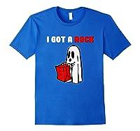 I Got A Rock Halloween Ghost T-shirt Royal Blue